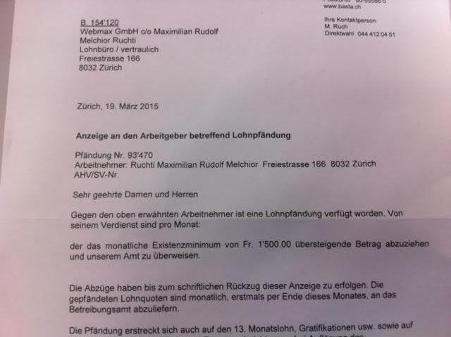 Lohnpfändung Max Ruchti Webmax