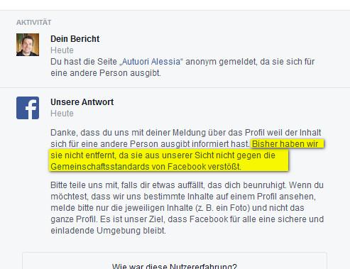 Autuori Alessia Facebook_Antwort