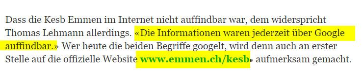 kesb_emmen_luzernerZeitung_falschaussage